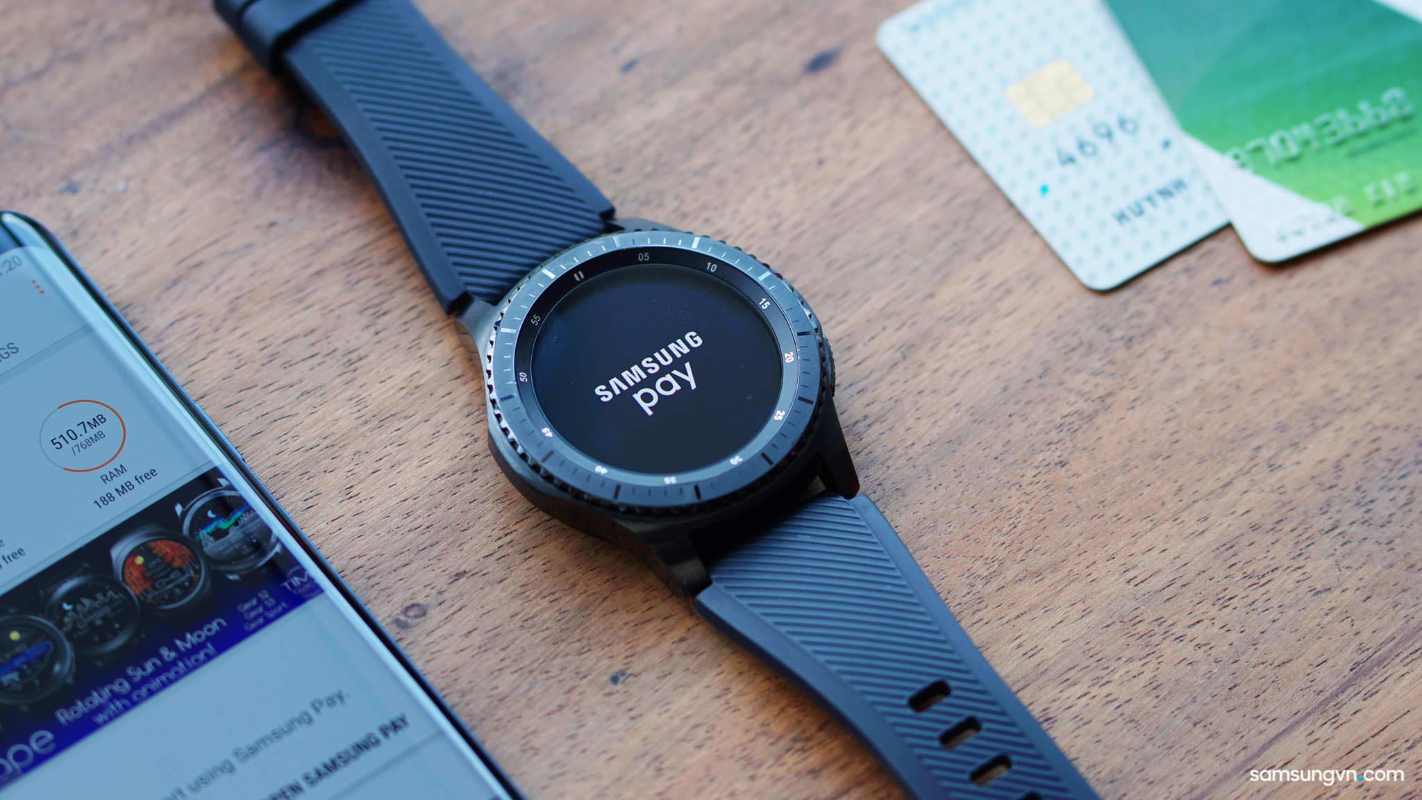 Cách cài đặt & Sử dụng Samsung Pay trên đồng hồ Gear S3