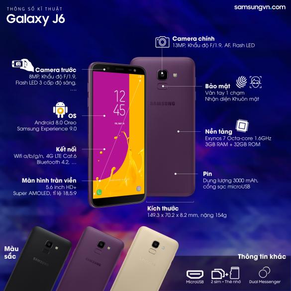 cấu hình galaxy j6