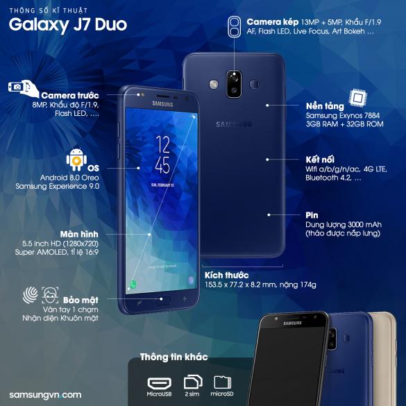 Cấu hình Galaxy J7 Duo