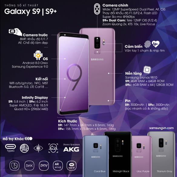 cấu hình galaxy s9