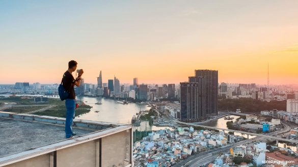Saigon trên cao cùng Galaxy S9
