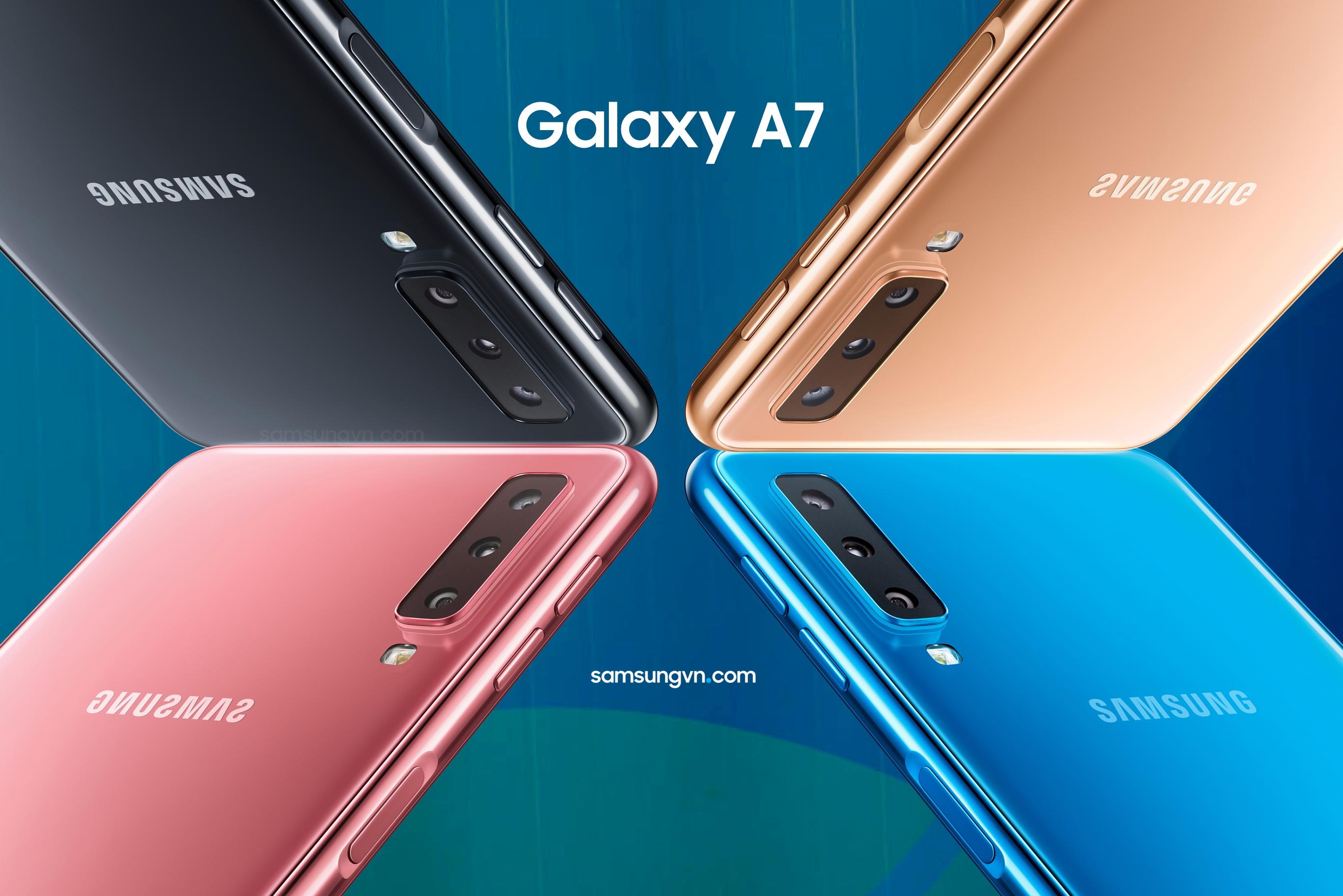 Không phải phân khúc cao cấp, Galaxy A7 mới chiếc smartphone 3 camera đầu tiên của Samsung