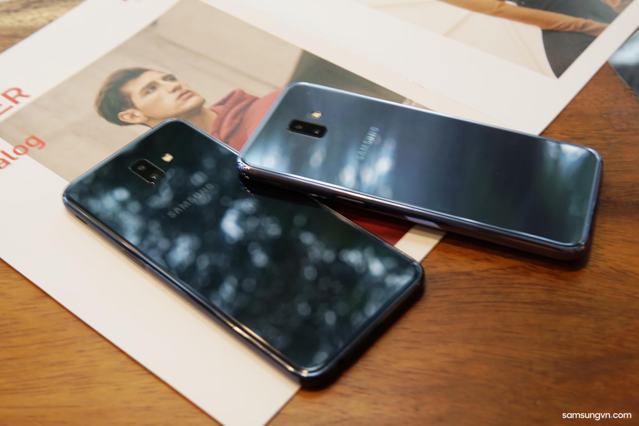 Trên tay Galaxy J6+: thiết kế đẹp cùng camera kép xóa phông