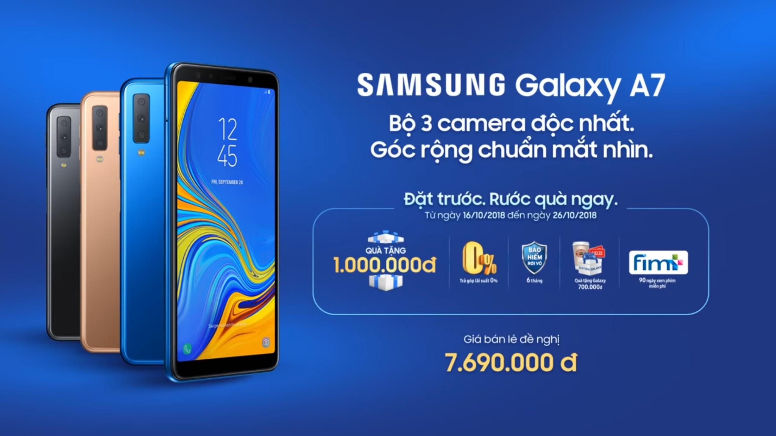 Quá Hot! Samsung chính thức tung chương trình đặt trước Galaxy A7 với bộ quà hấp dẫn trị giá hơn 1 triệu đồng