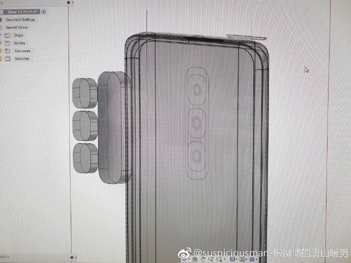 """Galaxy S10 rò rỉ hình ảnh thiết kế: có 3 camera, màn hình """"nốt ruồi duyên"""""""
