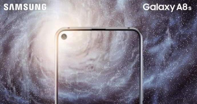 """Samsung sẽ ra mắt smartphone """"nốt ruồi"""" Galaxy A8s vào 10/12 tới"""