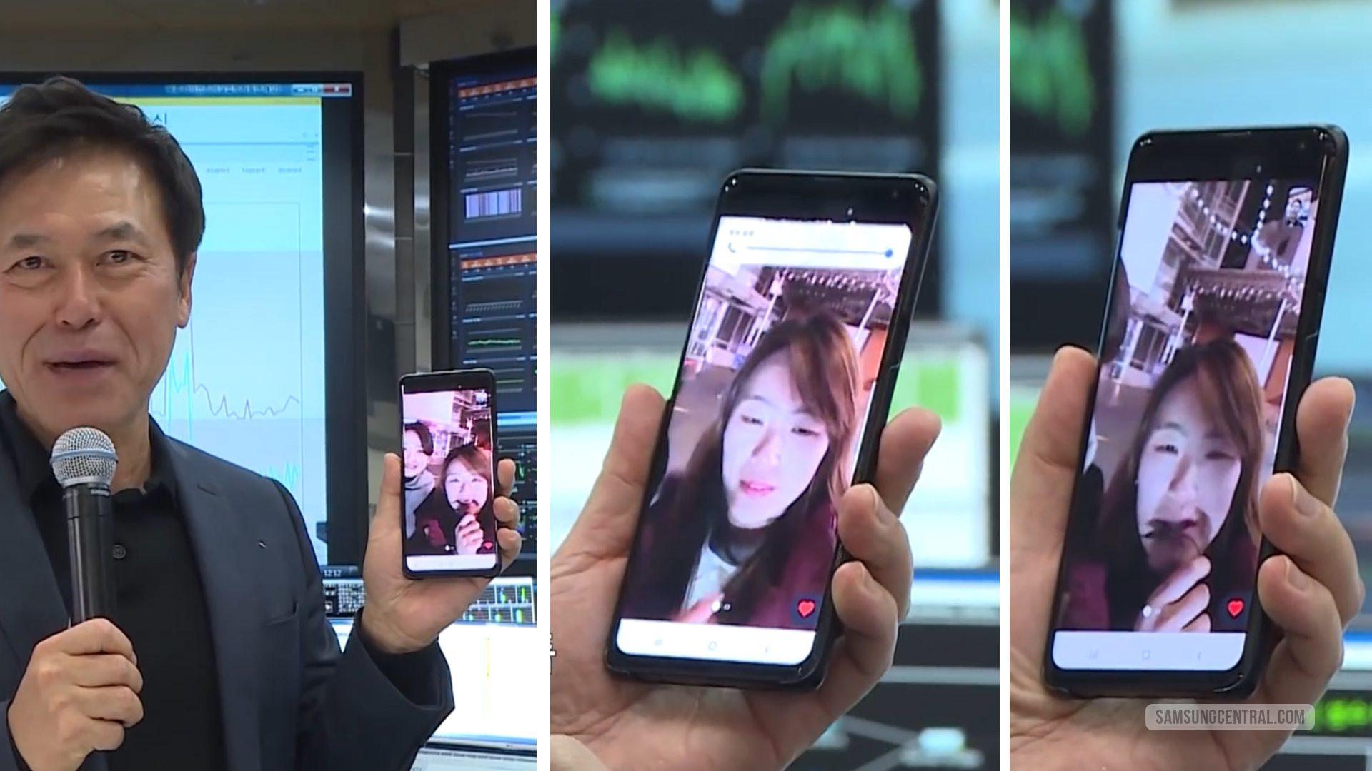 Galaxy S10 prototype (nguyên mẫu) lộ diện trong ngày ra mắt mạng 5G tại Hàn Quốc?
