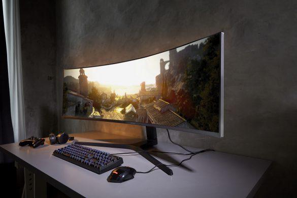 [CES 2019] Samsung giới thiệu bộ 3 màn hình (monitor) Space Monitor, CRG9, UR69C: thiết kế ấn tượng, độ phân giải 4K, viền siêu mỏng