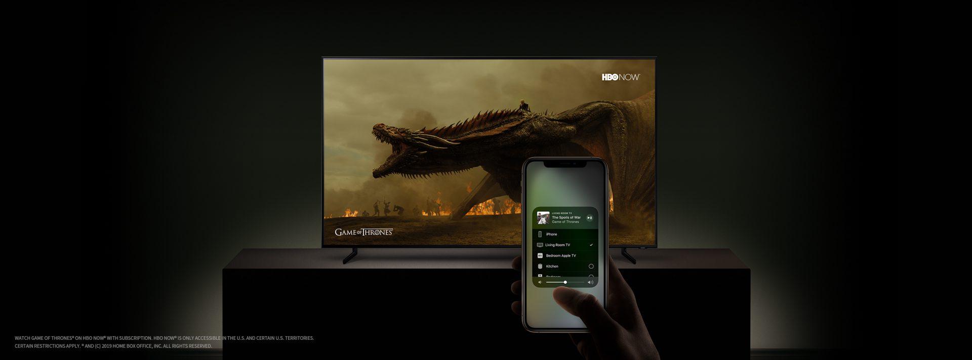 [CES 2019] TV thông minh Samsung tích hợp tính năng Apple iTunes và AirPlay 2