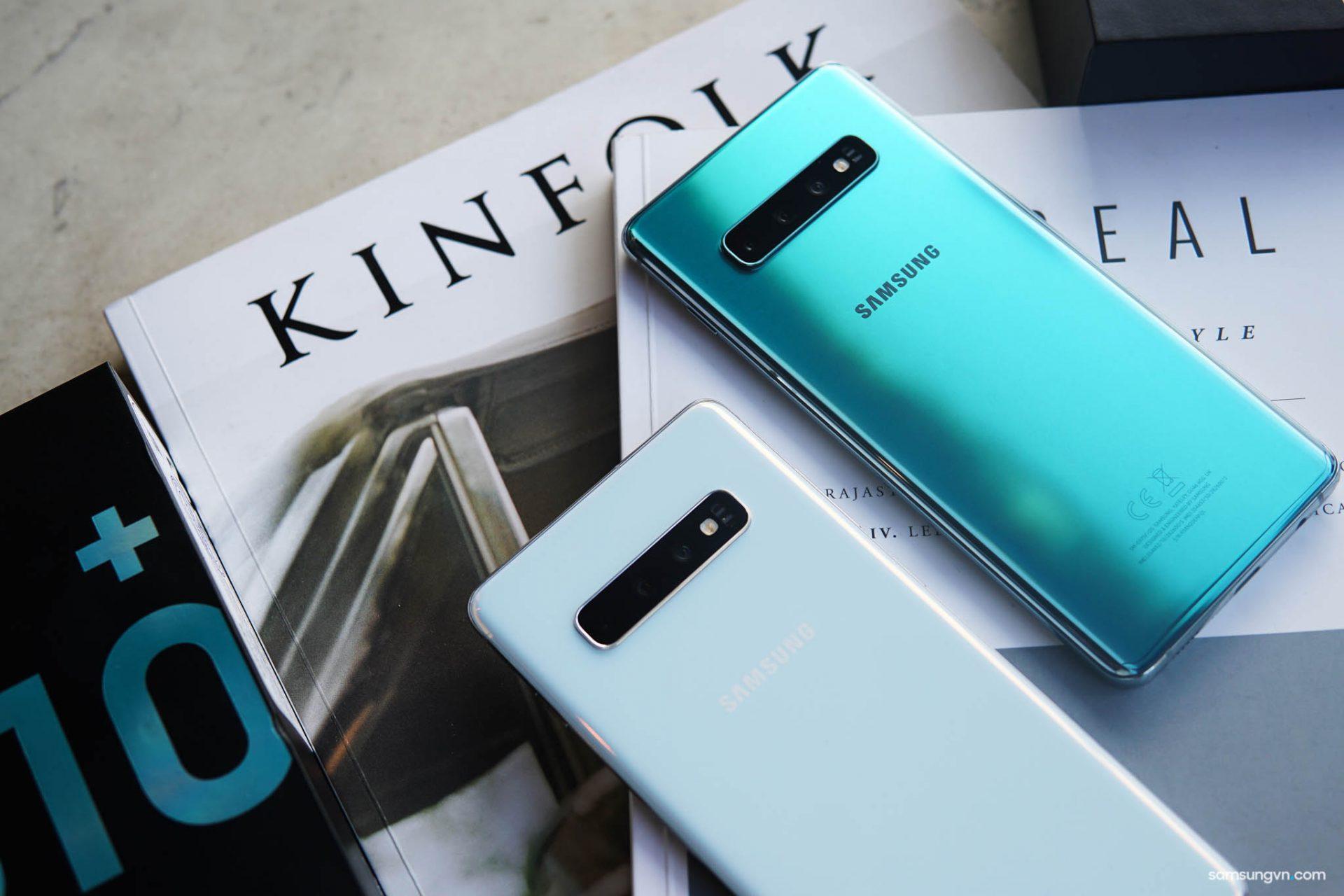Đập hộp Galaxy S10+ chính hãng thị trường Việt Nam: 2 phiên bản màu Trắng pha lê & Xanh lục bảo, giá 22,99 triệu