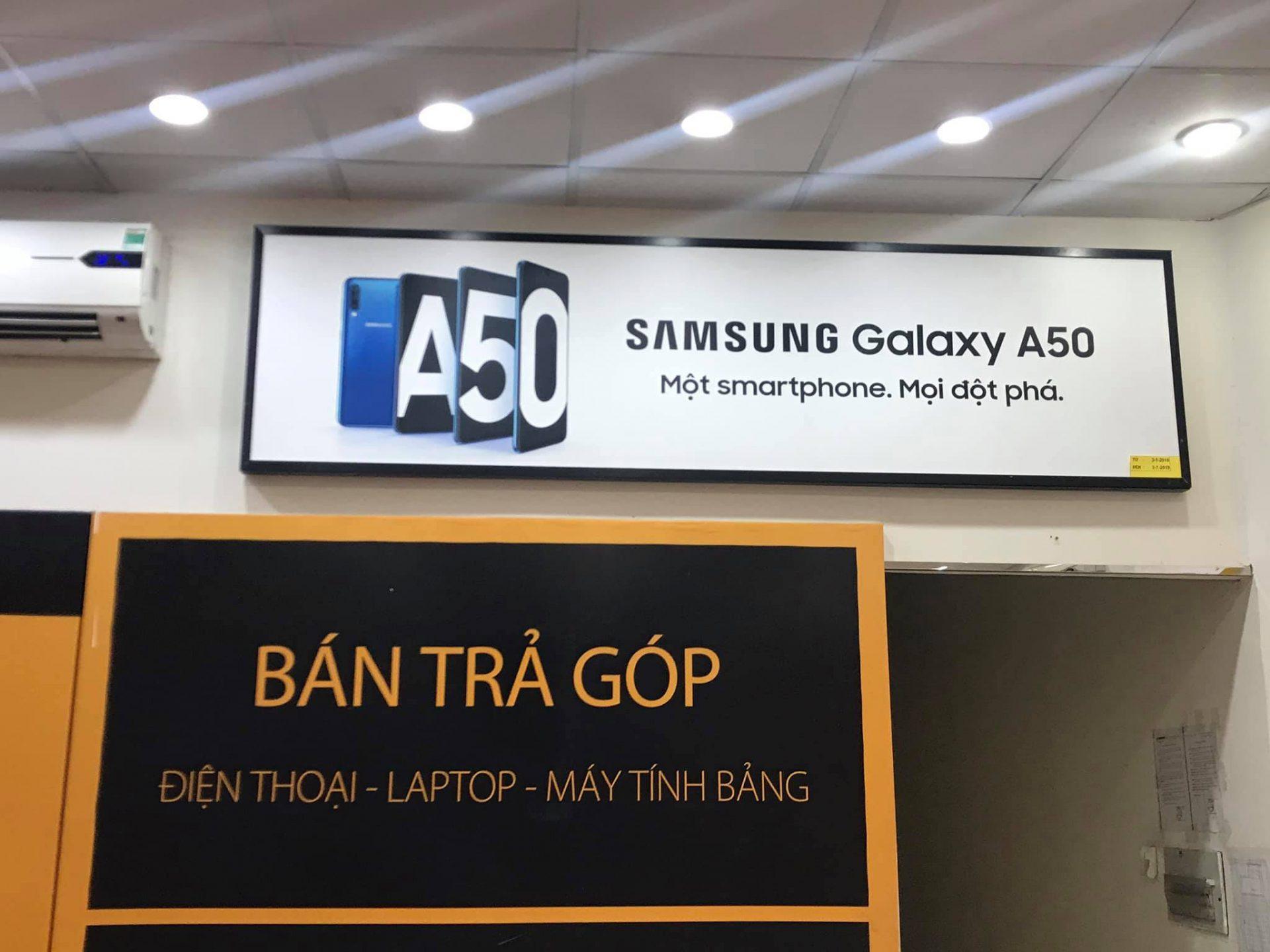 Xuất hiện banner tại Thế giới di động, Galaxy A50 chuẩn bị ra mắt tại Việt Nam?
