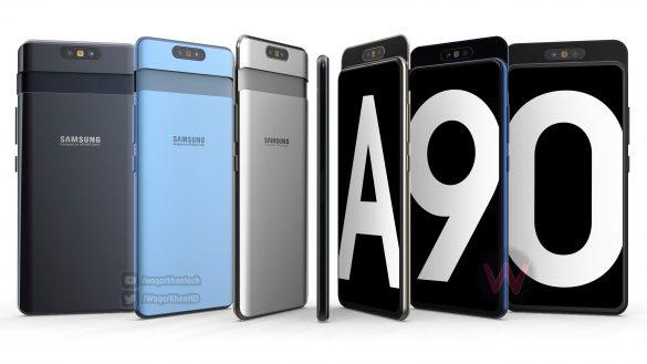 Xuất hiện Concept của Galaxy A90: cơ chế trượt xoay camera độc đáo?