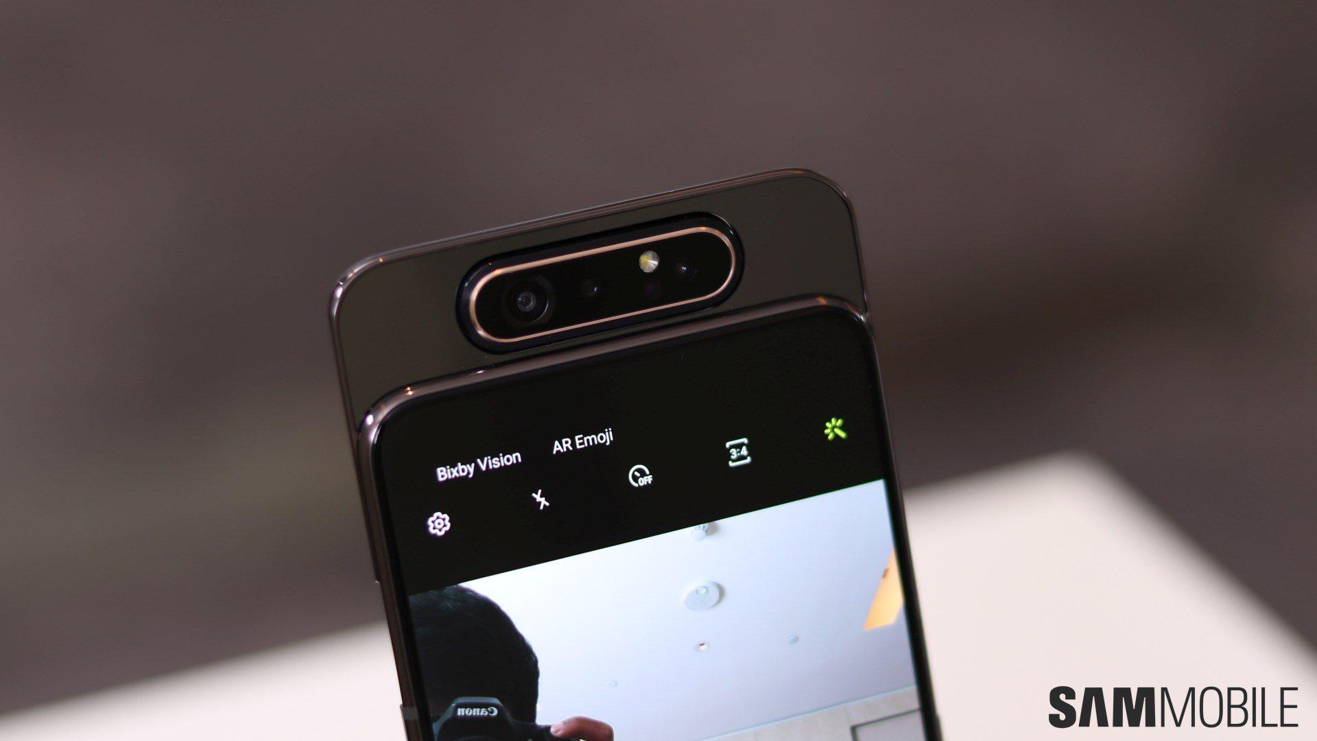 Trên tay Galaxy A80: camera xoay trượt độc đáo, màn hình tràn viền hoàn toàn, vi xử lý Snapdragon 730 mới ra mắt hôm nay …!