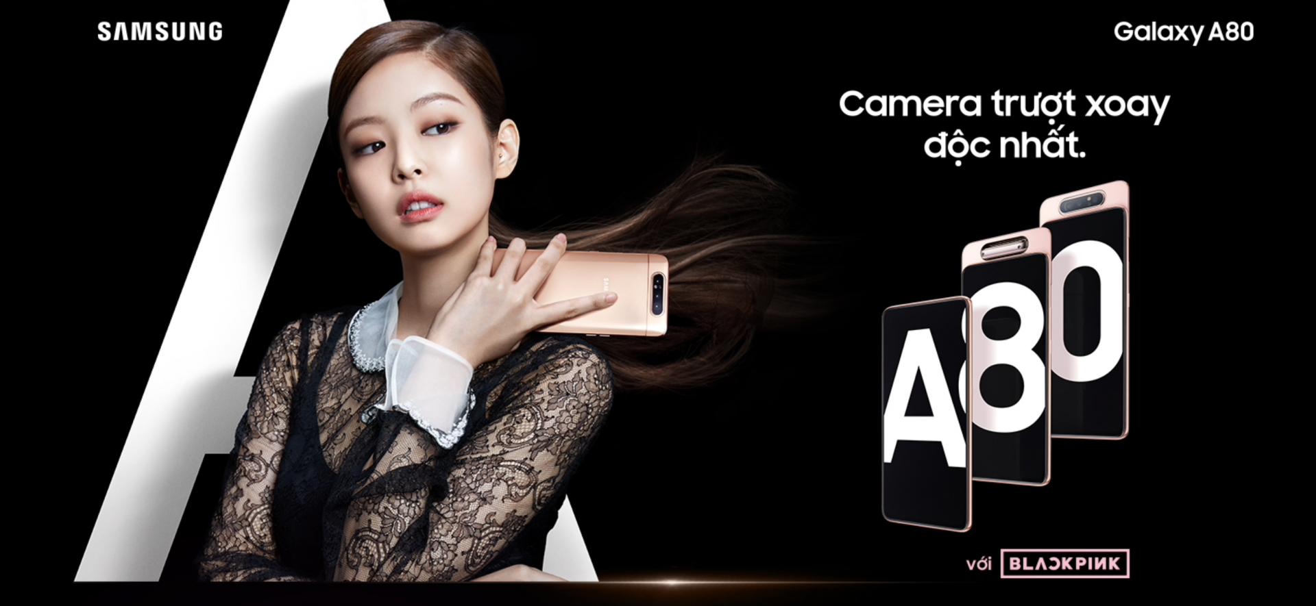 Galaxy A80 chính thức ra mắt tại Việt Nam: camera trượt xoay độc đáo, màn hình tràn viền và vi xử lý Snapdragon 730G mạnh mẽ