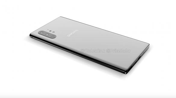 Lộ diện thiết kế của Galaxy Note10 Pro: camera dọc như Galaxy Fold, không jack tai nghe 3.5mm …