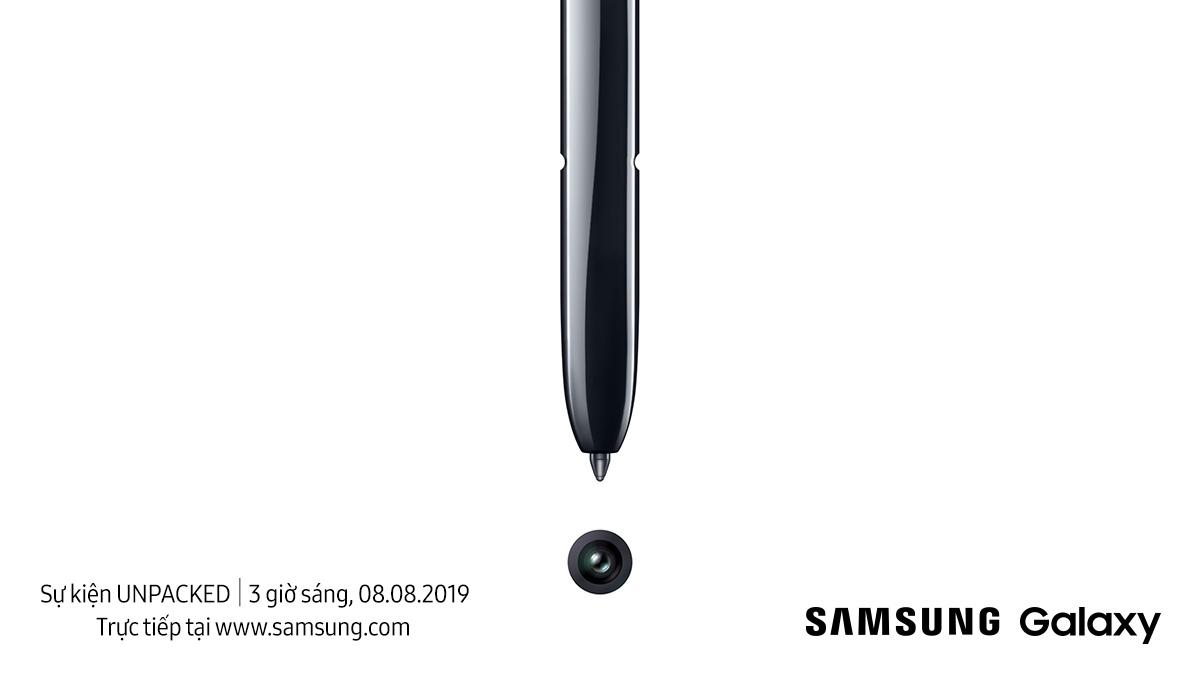 Samsung chính thức giới thiệu Galaxy Note mới vào ngày 08/08/2019