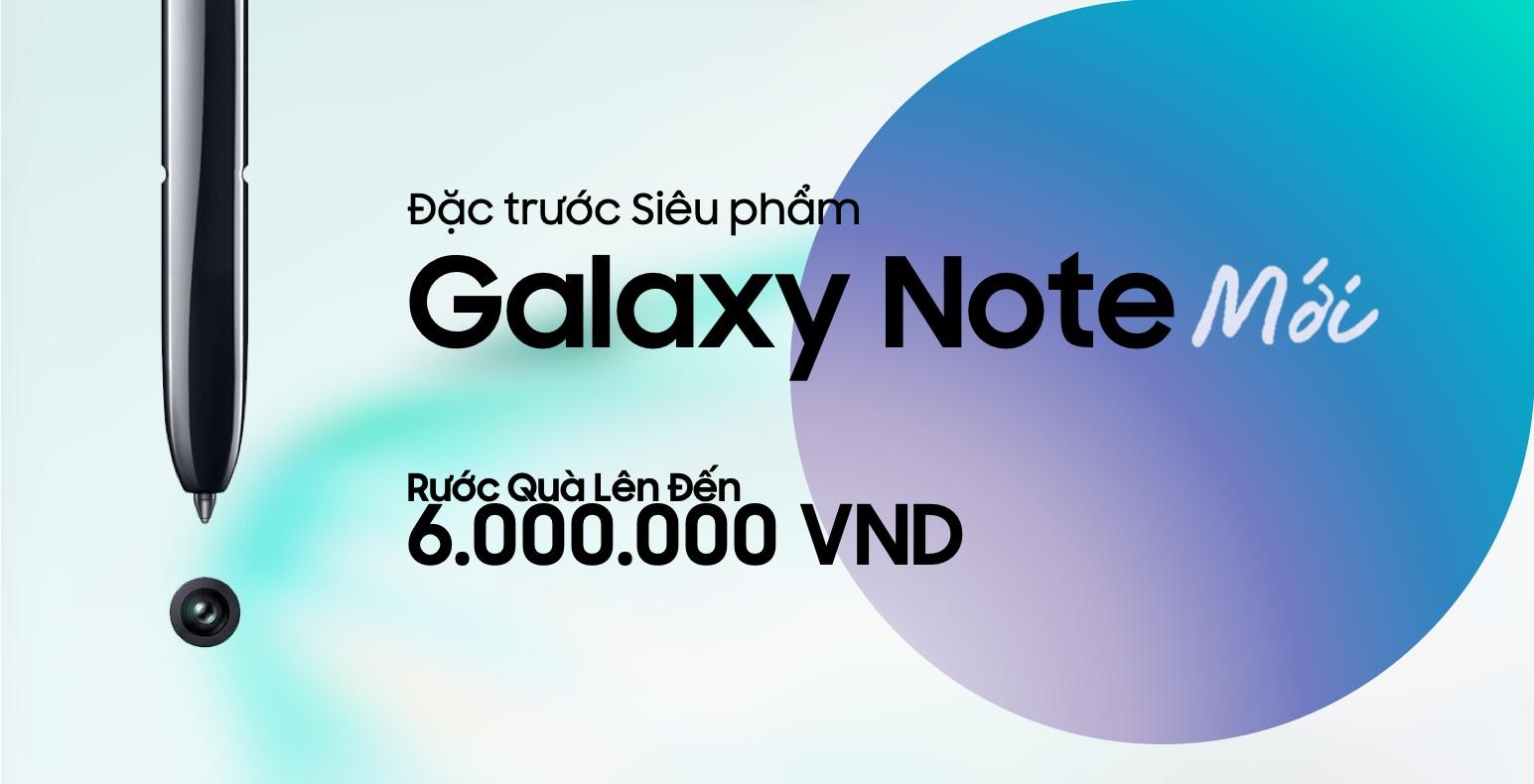 Các nhà bán lẻ tại VN bắt đầu cho Đặt gạch Galaxy Note mới từ hôm nay